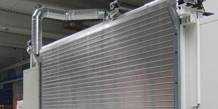 Automatic Steel Shutter Roller Door Indoor of an industry.